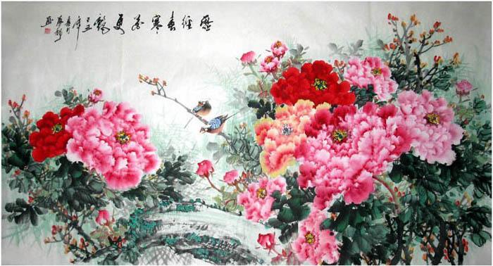徐梦龙·六尺国画牡丹