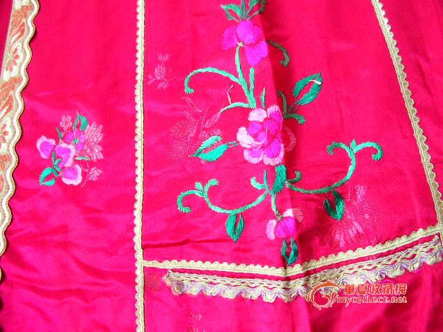 凤穿牡丹 刺绣裙子图片