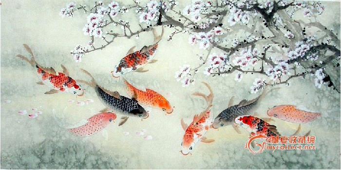 宣纸绘画鱼图片步骤
