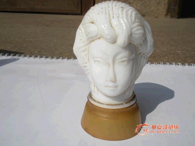 清晚民国外国头像琉璃雕塑