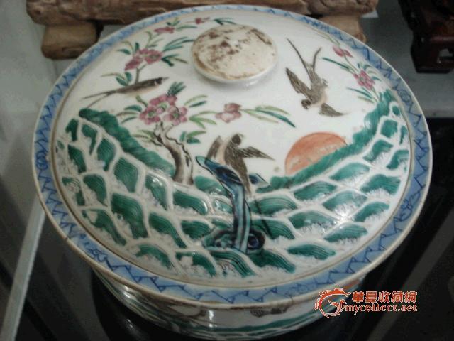 清--海宴河清图粉彩一品锅