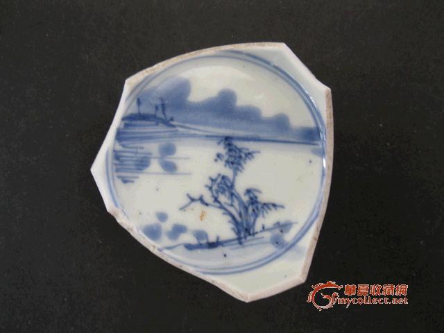 康熙 青花 山水 纹饰图片