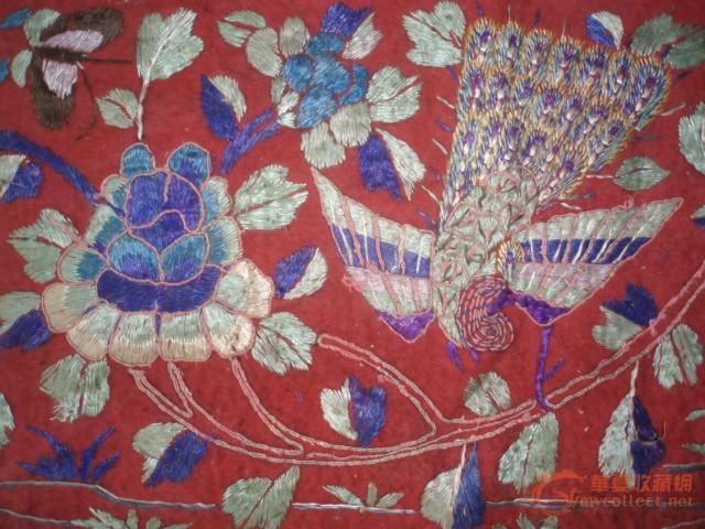 漂亮的孔雀花卉刺绣