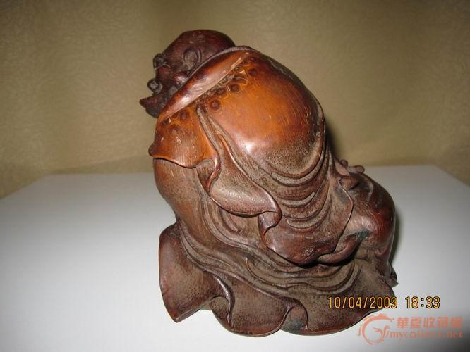 竹根雕笑狮罗汉 竹根雕笑狮罗汉价格 竹根雕笑狮罗汉图片 来自藏友清