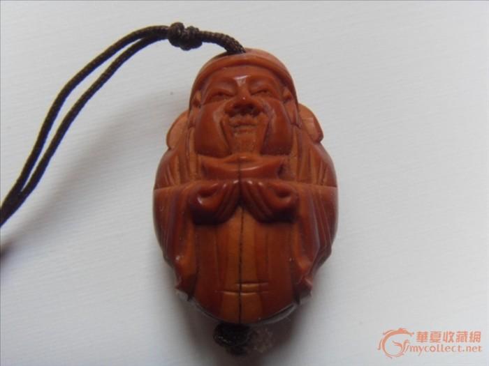 苏州橄榄核雕刻 过年财神