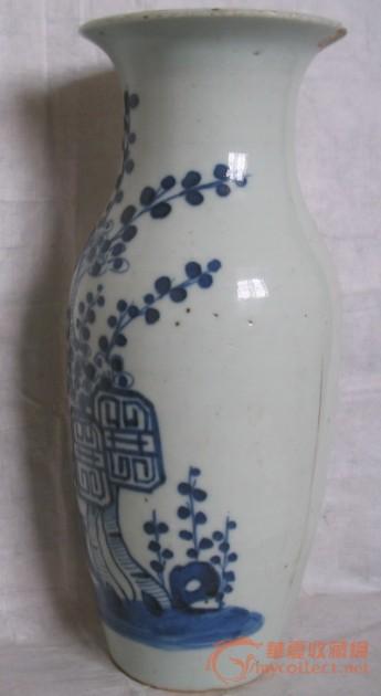 清中.梅花花瓶