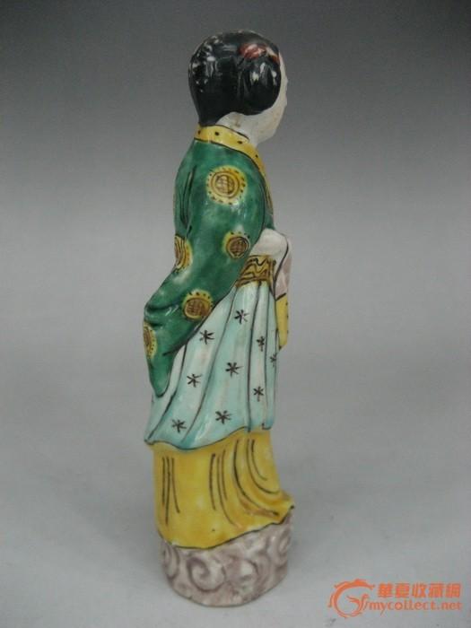 民国仕女瓷塑像