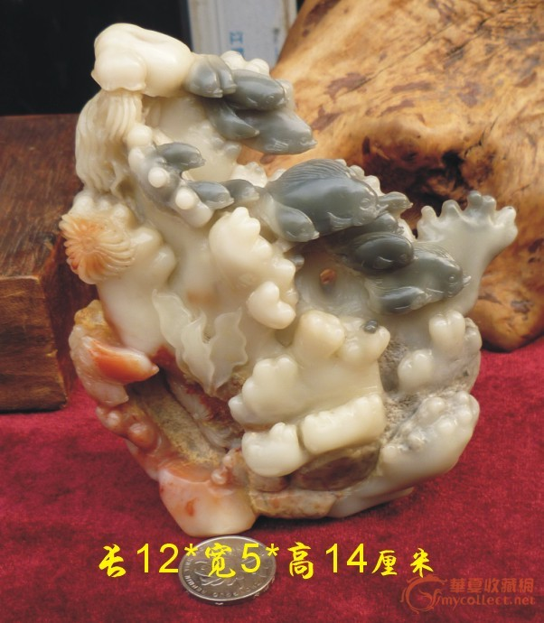 海底世界(寿山芙蓉石)——细工