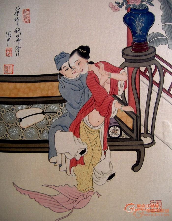 钱化佛·绢本《 秘戏图 精品册》精美绝伦 ,绝非24