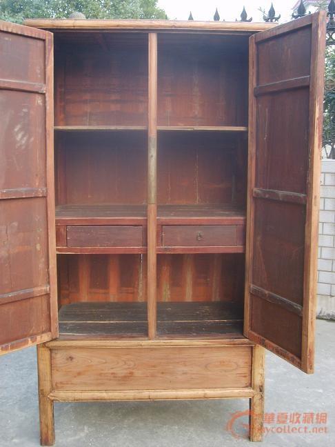 明式榉木大小头柜子图片