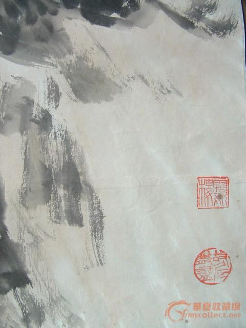壁纸 风景 国画 旅游 瀑布 山水 桌面 480_640 竖版 竖屏 手机