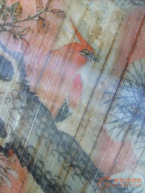 草梨木玻璃丝花鸟插屏