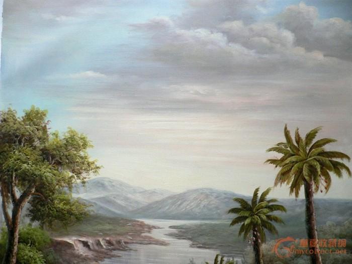 一张原创风景油画作品