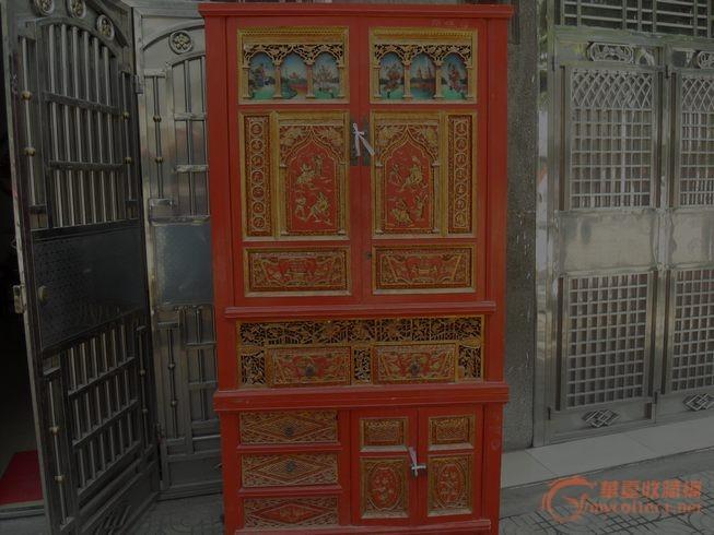 雕花柜子图片