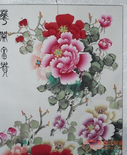 中国书画艺术研究员,画家张福生牡丹作品