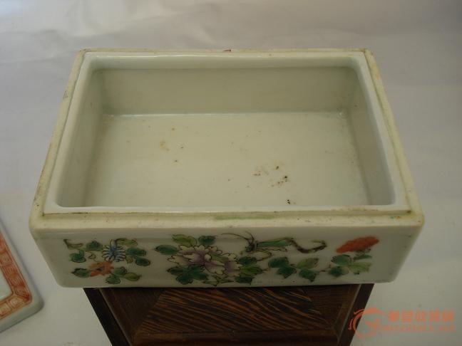 民国粉彩虫草印泥盒一只图片