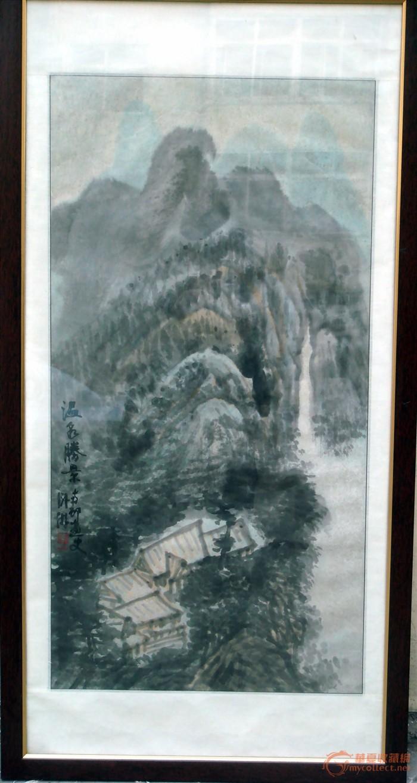 镜心 尺寸: 47*91cm 质地: 纸本 交易品介绍    汪稼华是青岛著名画家