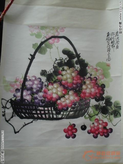 名家国画葡萄