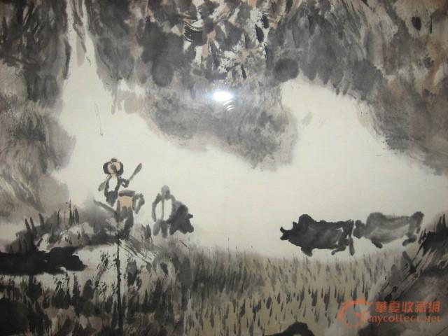 """1991年《故乡》参加""""全国第一届当代山水画邀请展"""",1993年《陕北春早"""