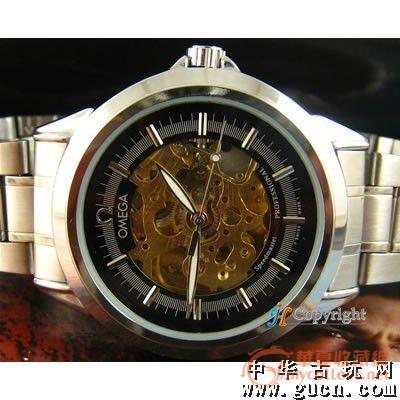 特价促销一万块 高仿欧米茄手表 镂空钢带机械表图片