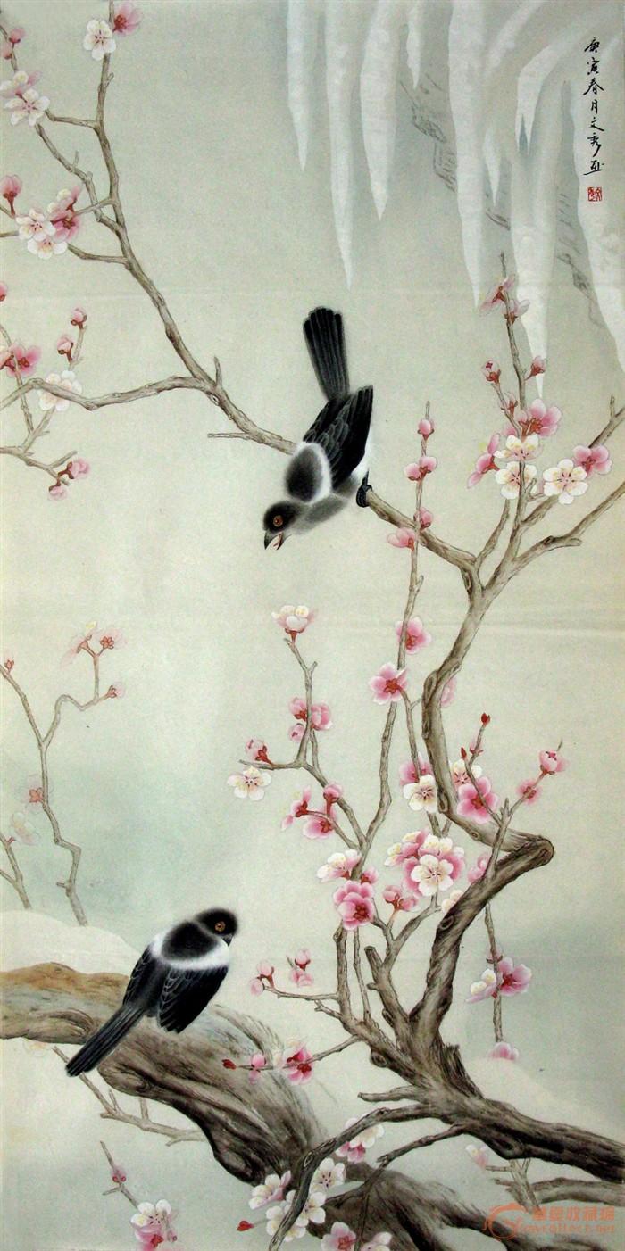 中国画·文秀·四尺工笔花鸟