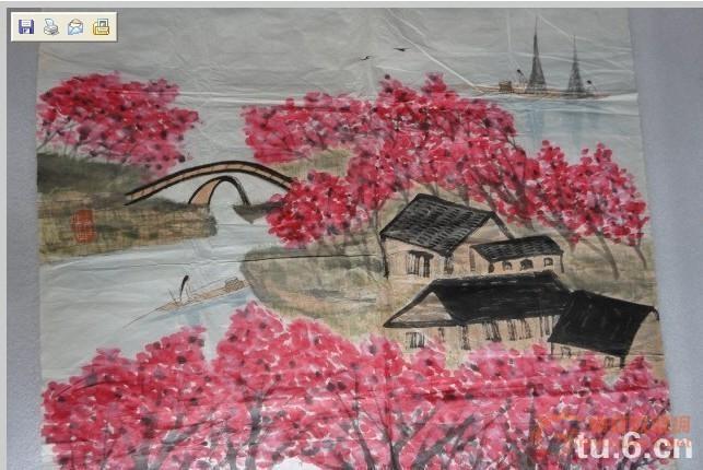 著名画家林曦明作品《三月江南杏花天》