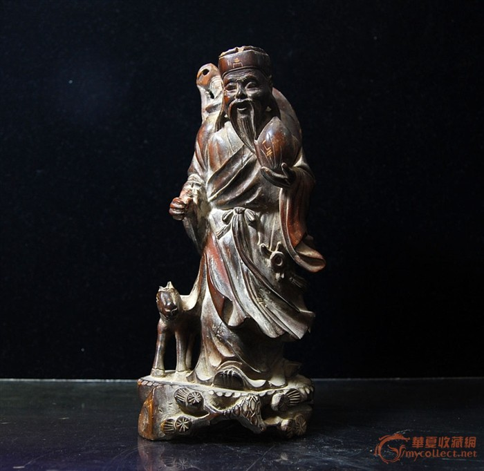 木雕东方朔偷桃图片