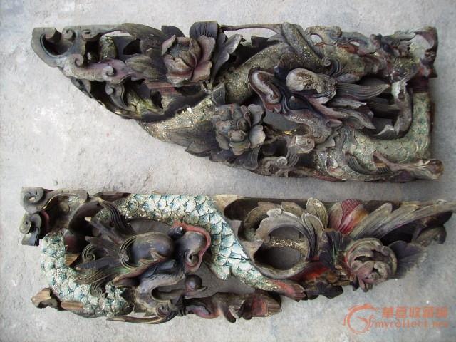 矿物彩木雕