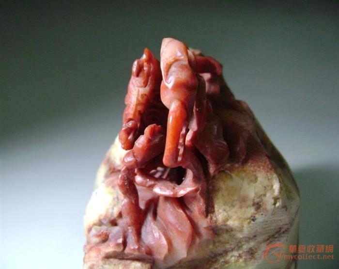 寿山石雕螃蟹图