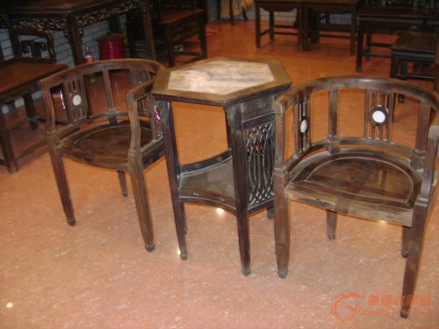 民国红木(酸枝)桌椅一套