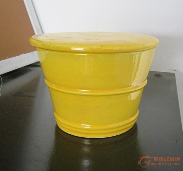 姜黄釉木捅罐_姜黄釉木捅罐价格_姜黄釉木捅罐图片_藏