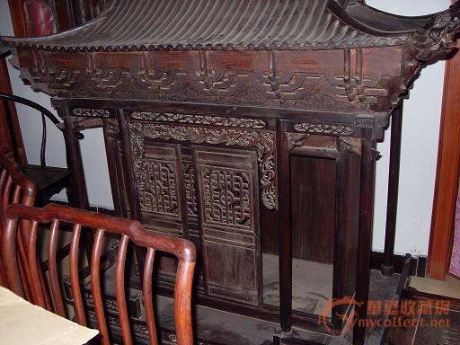 古典家具,故宫式老建筑房子(佛龛)!红木的