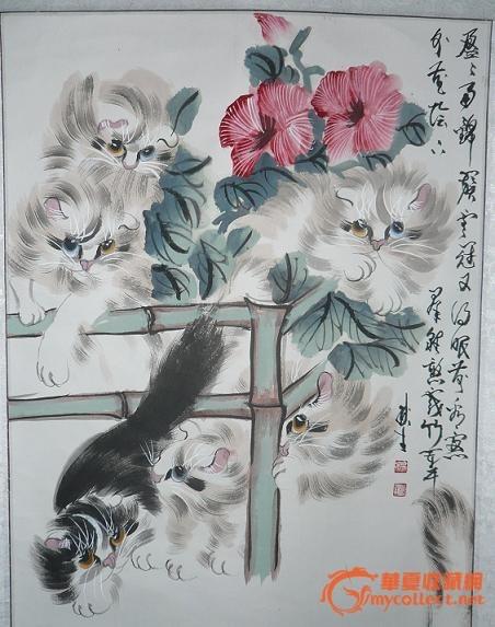 大动物画狮,虎,猿猴,小动物画猫