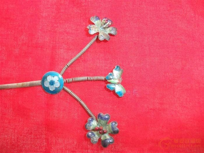 烤蓝银簪子 烤蓝银簪子价格 烤蓝银簪子图片 来自藏友青铜古器 cang.