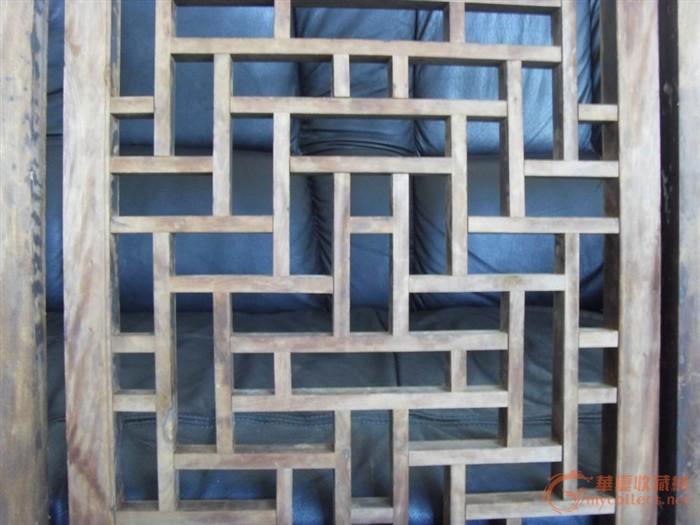 雕刻精美的格子花窗花板4片,装修的理想选择图片