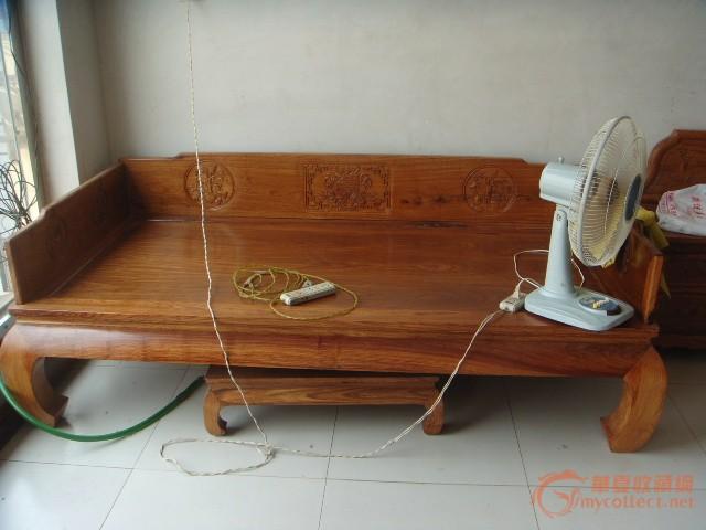 缅甸花梨木   独板罗汉床一张