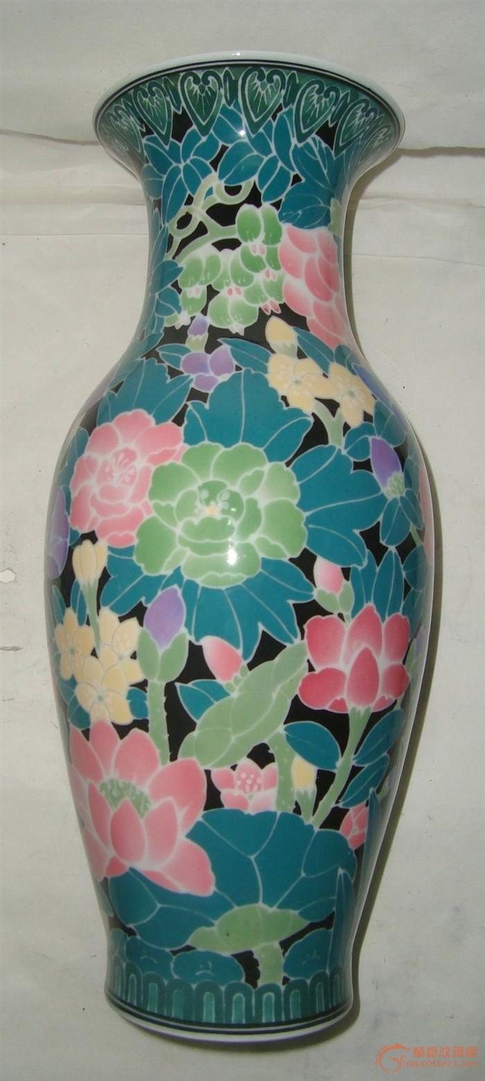 醴陵釉下彩手绘大花瓶