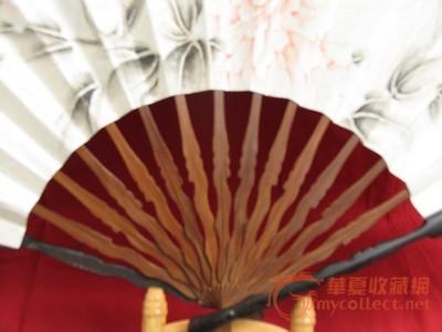古风手绘折扇红色