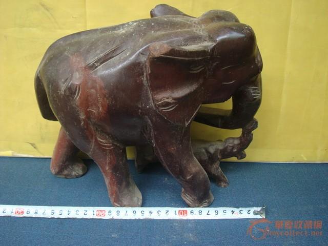 杂木雕大象-图2
