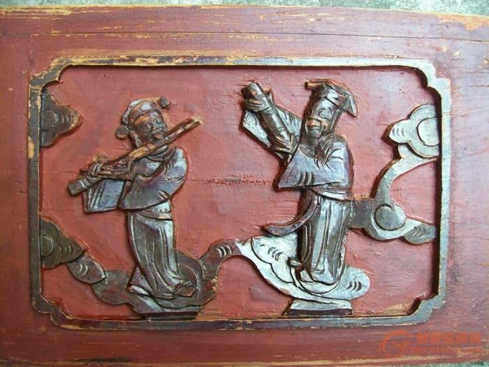 """年代: 中华民国 交易品介绍      """"八仙过海,各显其能""""   此组雕板"""