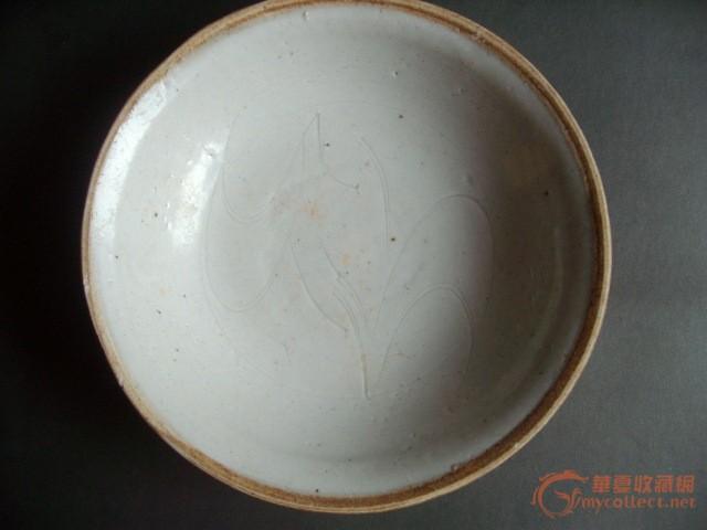 宋 影青酱口划花纹碗