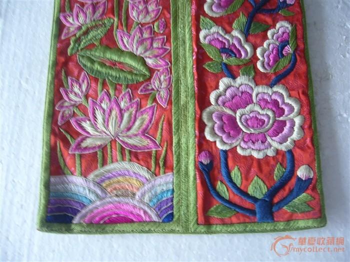 刺绣荷花图片