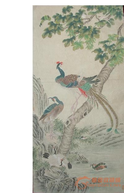 ◢焱煌轩◣近代著名画家马晋工笔牡丹花鸟图画芯