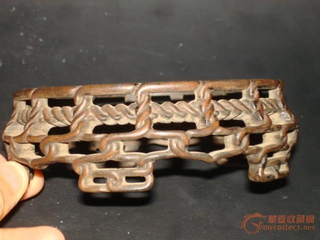 整体木头全手工雕刻象麻绳编织一样底座——包老