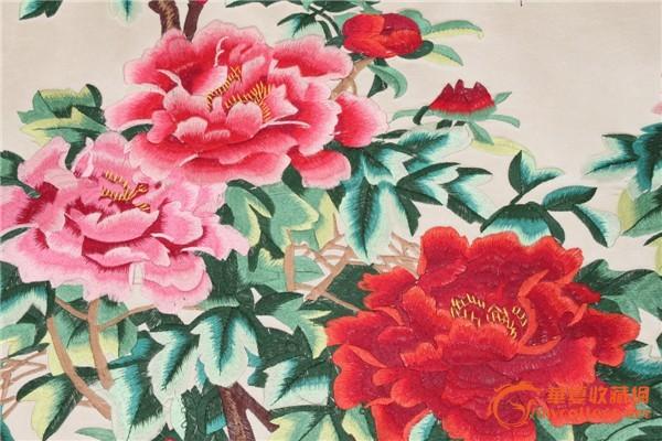 刺绣 牡丹图片