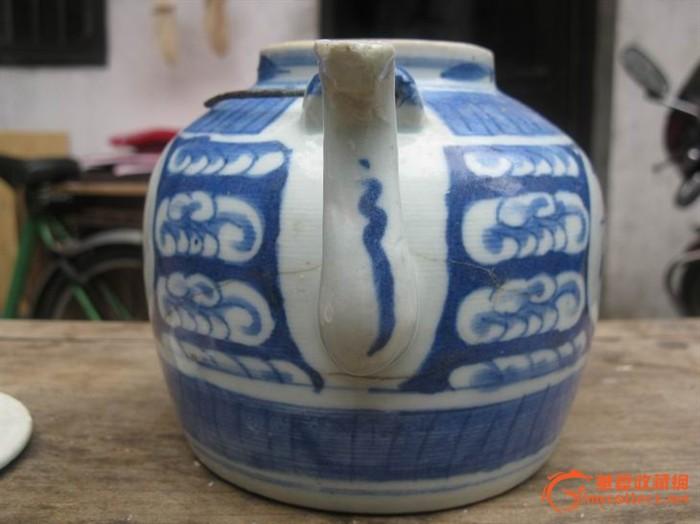 清—青花—茶壶!