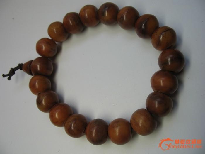 (35)清代虎骨手串
