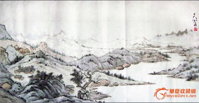 山水画 斗方