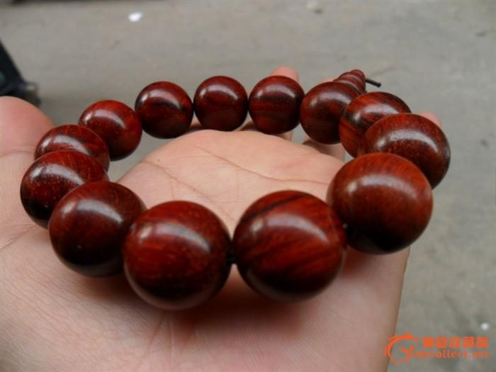 印度小叶檀木18mm圆珠子手链