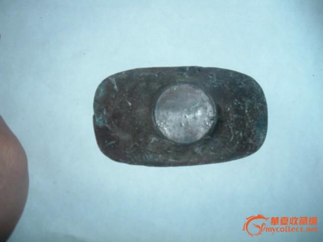 清朝真正的金元宝-便宜 清代刻工福字元宝老纯锡盘